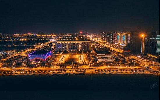 惊艳!金坛区滨湖新城夜景原来这么漂亮